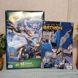2-Giant skyLanders and Giant BATMAN COLORING